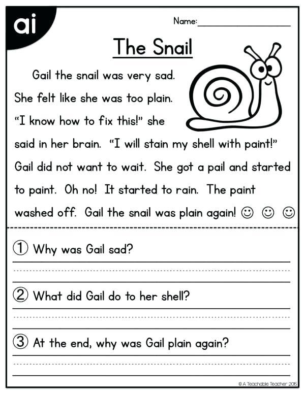 Kindergarten Reading Worksheets Pdf Reading Worksheets Also
