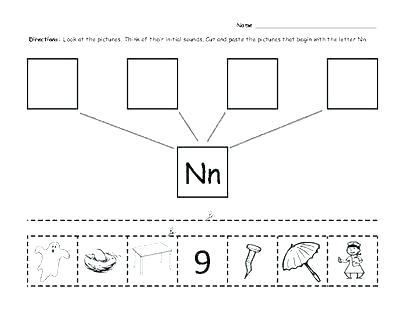 Kindergarten Test Worksheets Beginning Middle End Sounds Free