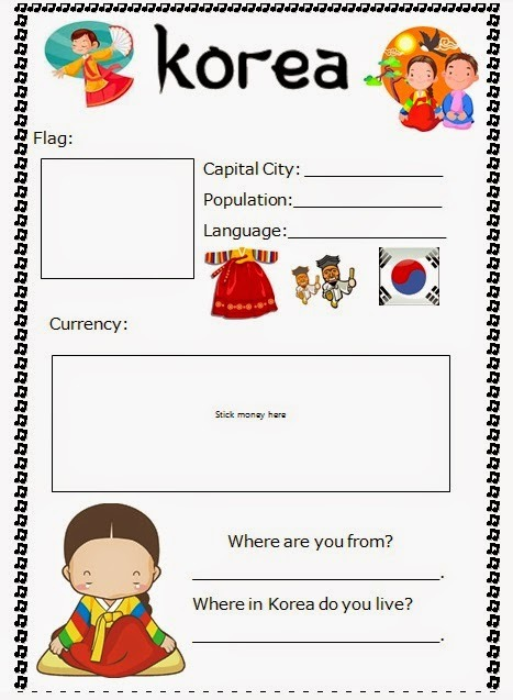 Around The World Summer Camp! Free Worksheets And Powerpoints