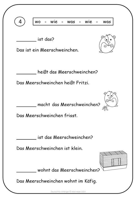 Learning German Worksheets German Reading Prehension Short German