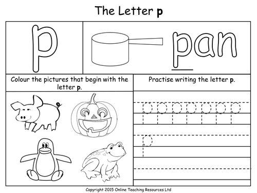 Letter P Worksheets For Preschool