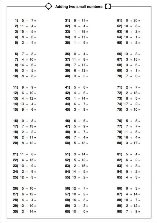Homework Sheets Maths Ks2