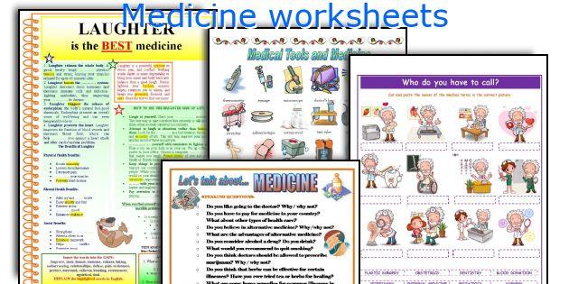 Medicine Worksheets