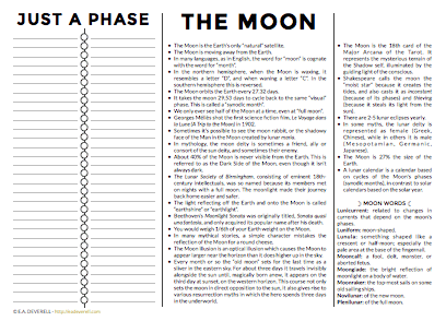 The Moon (journal Worksheet Wednesday)