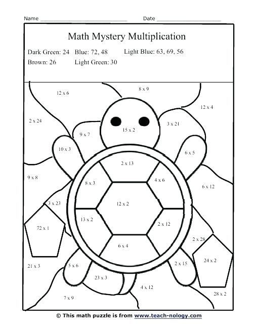 Multiplication Coloring Pictures Multiplication Color By Number