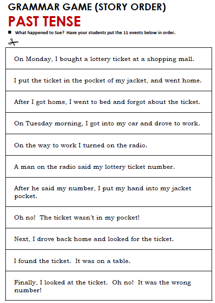 Past Tense Worksheets For Grade 2 Past Simple All Things Grammar