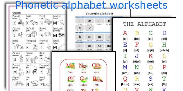 Phonetic Alphabet Worksheets