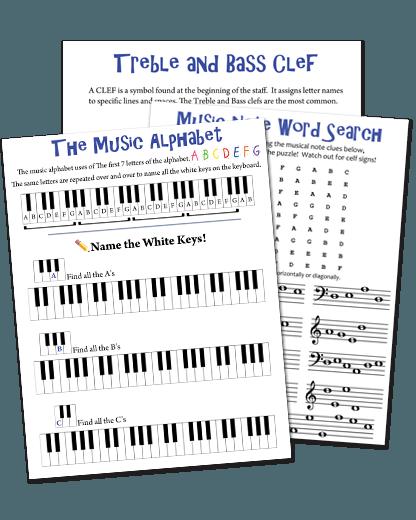Piano Note Speller For Kids (workbook)