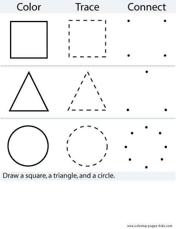 Preschool Worksheet Dot To Dot Shapes At Free For Personal Use Dot