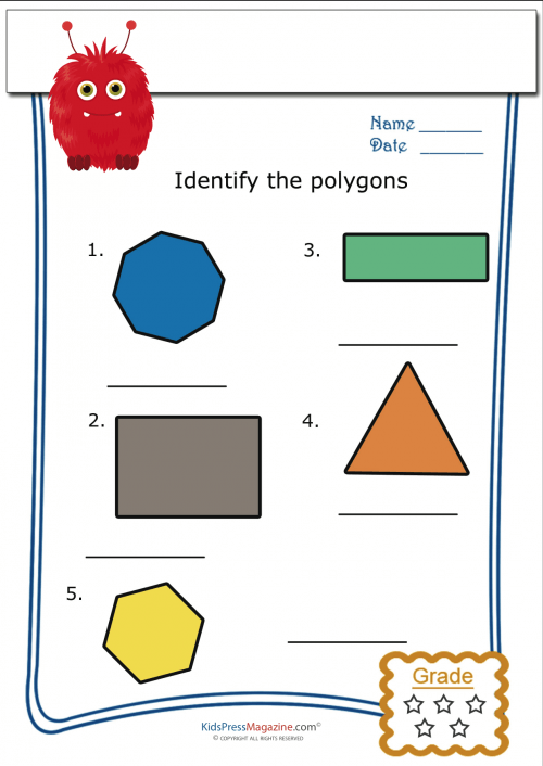 Printable Polygon Worksheets Part Five