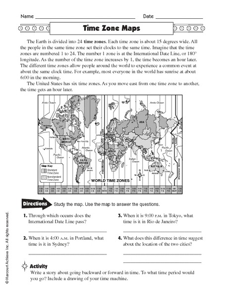 Printable Worksheets On Time Zones