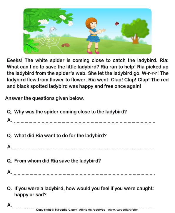 Printables  Free Comprehension Worksheets For Grade 2
