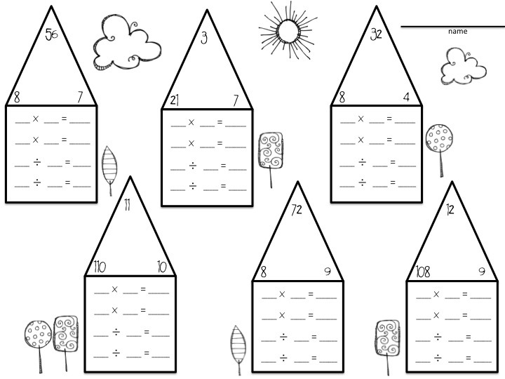 Relate Multiplication To Division Worksheets Multiplication And