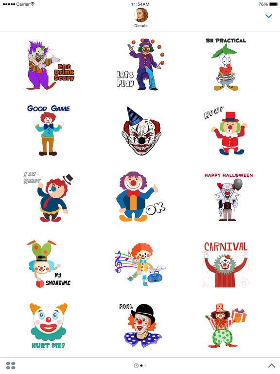 App Shopper  Evil Clown Stickers