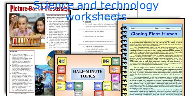 Science And Technology Worksheets