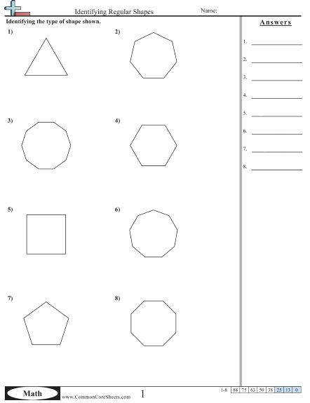 Area Of A Regular Polygon Worksheet