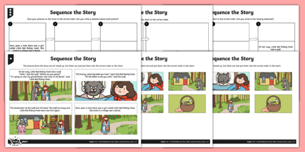 Little Red Riding Hood Sequence The Story Worksheet   Worksheet Pack