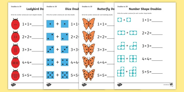 New   Doubles To 20 Worksheet   Worksheets