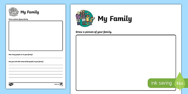 All About My Family Worksheet   Worksheet, Worksheet