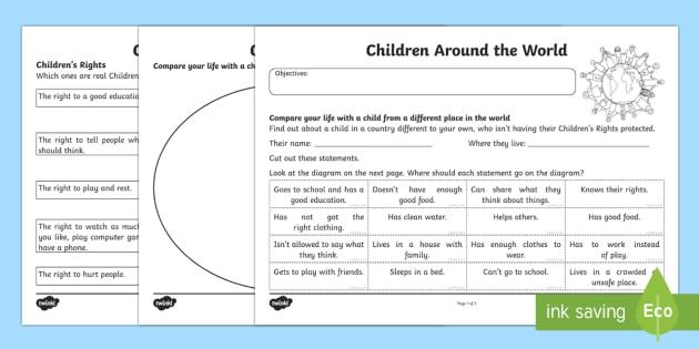 Universal Children's Day  Children Around The World Worksheet
