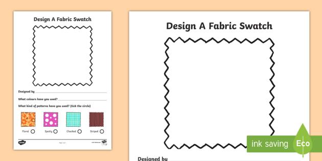 Fashion Design Studio Fabric Design Worksheet