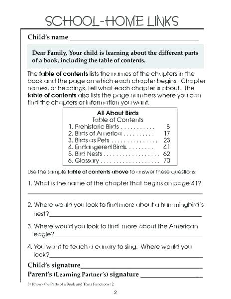Reading Text Features 1 Free Printable Nonfiction Worksheet