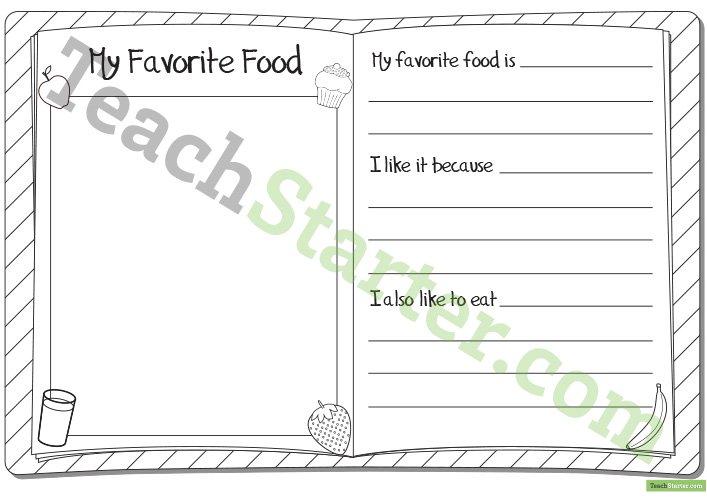 My Favorite Food Worksheet Teaching Resource – Teach Starter