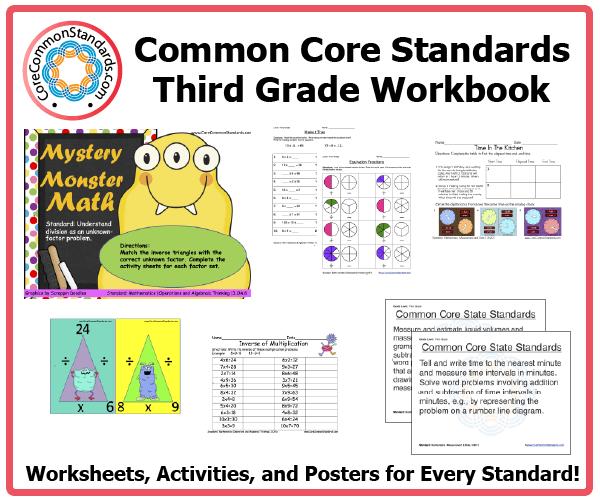 Third Grade Common Core Workbook Download