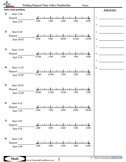 Time Worksheets