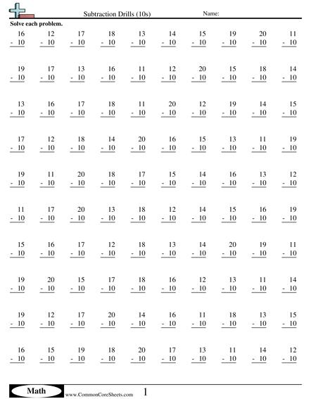Math Drills Worksheets