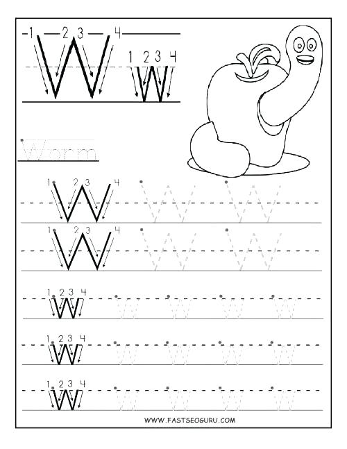Printable Letter Worksheets For Preschoolers – Redoakdeer Com