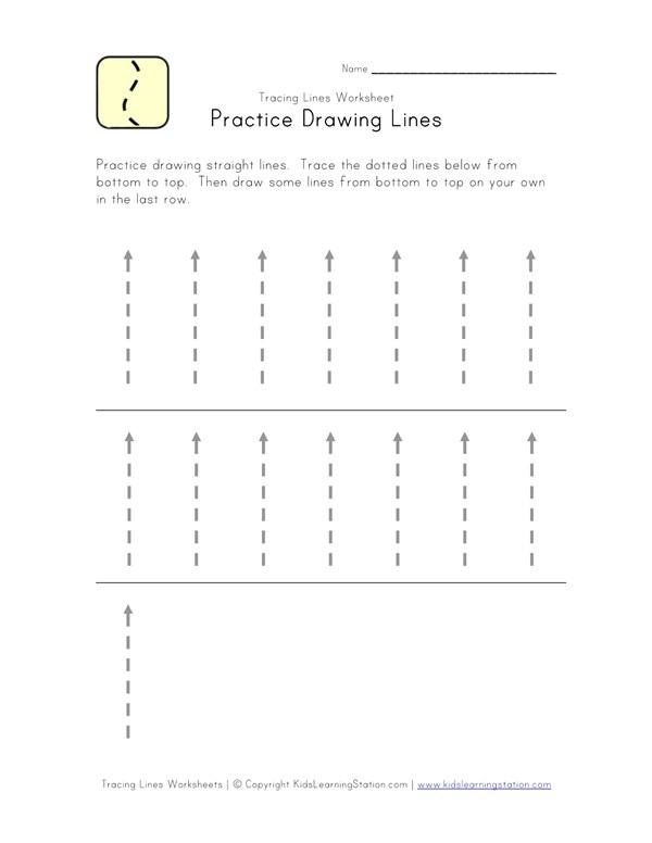 Traceable Lines Worksheet