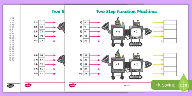 Twostep Function Machines Activity Pack  2979630513 – Everyday
