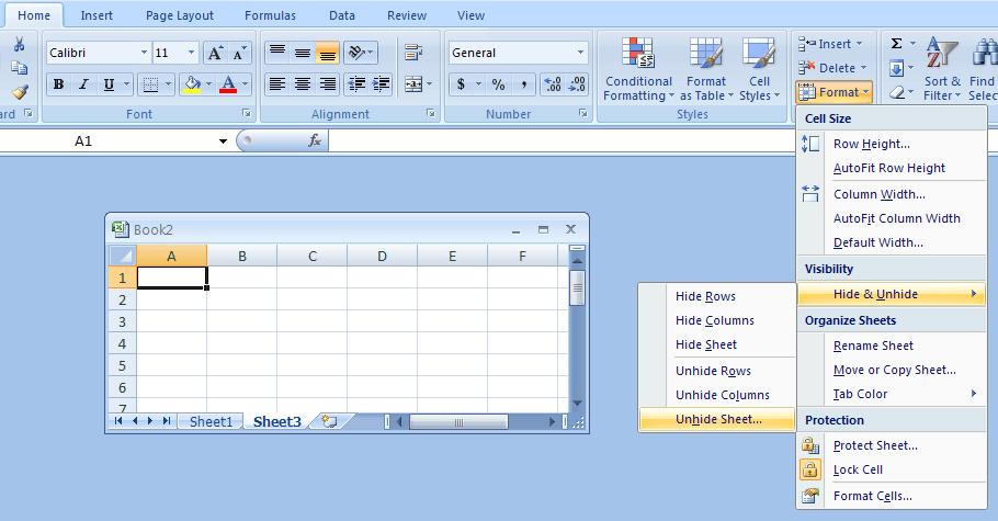 Unhide A Worksheet   Worksheet Â« Workbook Worksheet Â« Microsoft
