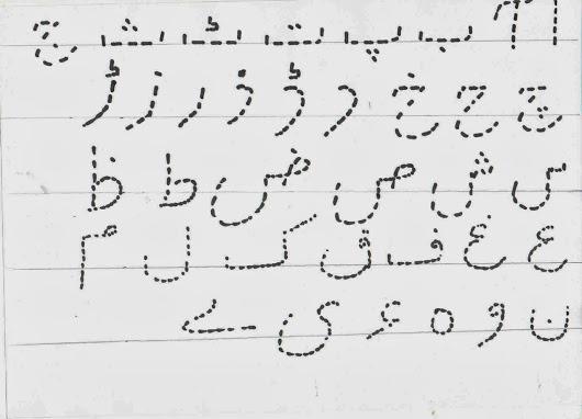 Urdu Alphabets Dotted Fonts