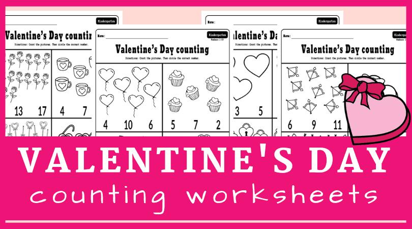 Valentine's Day Math Worksheets For Kindergarten