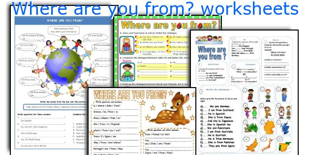 Where Are You From  Worksheets
