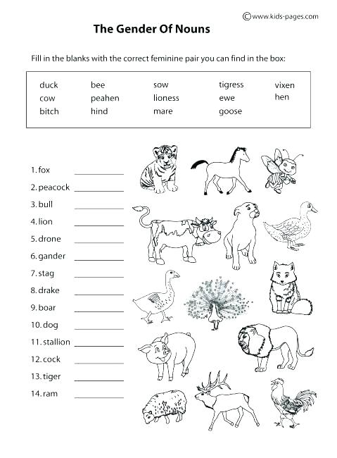 Wild Animals Worksheets For Grade 1 Animal Movements Worksheets