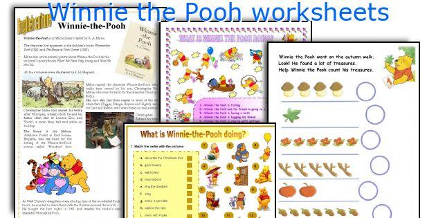 Winnie The Pooh Worksheets