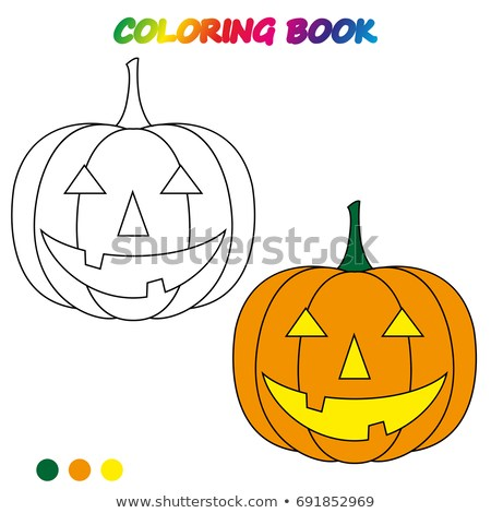 Worksheet Halloween Pumpkin Coloring Book Game Stock Vector