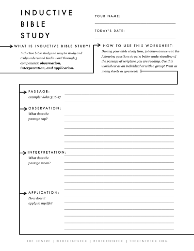 Inductive Bible Study Sheet – The Binder Project