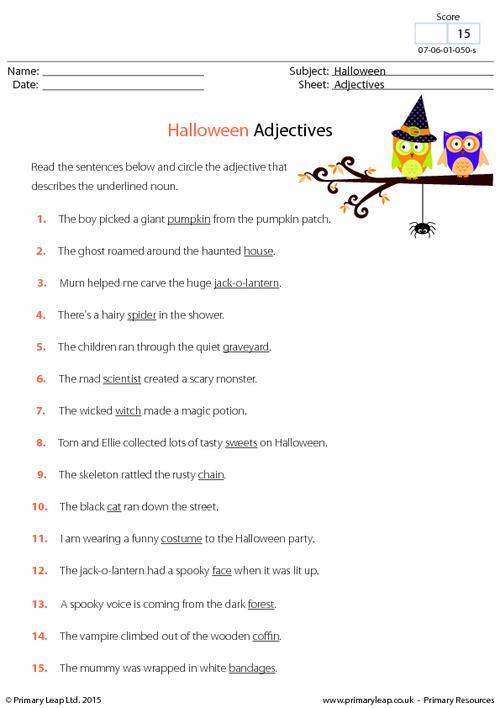 Halloween Adjectives