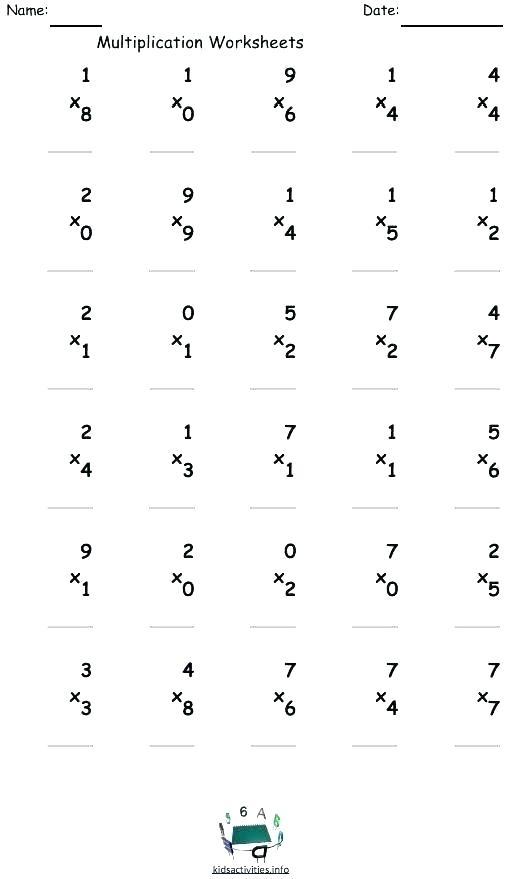 1st Grade Multiplication Worksheets Grade Worksheets Collection Of