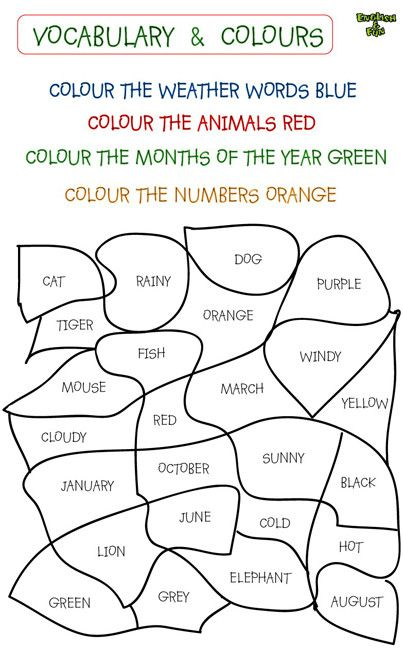 Colours In English Exercises