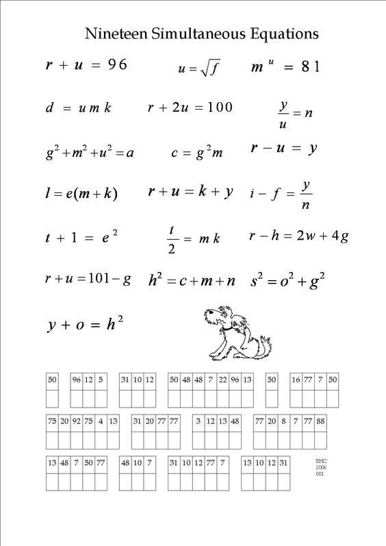 Algebra Puzzle Worksheets  Algebra  Alistairtheoptimist Free