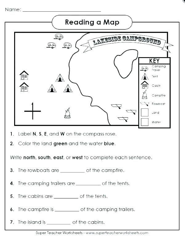 Free Map Skills Worksheets Map Skills Worksheets Map Skills