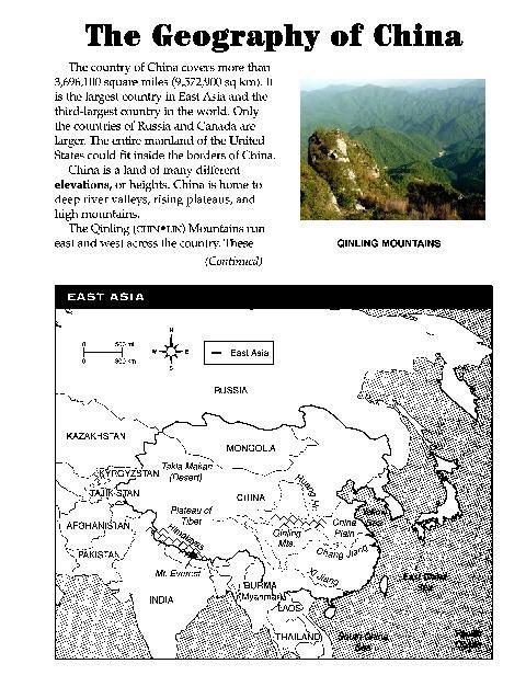 Ancient China, Activities And Worksheets