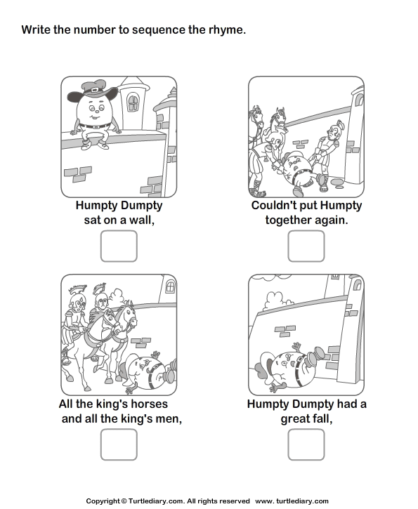Download And Print Turtle Diary's Story Sequencing Humpty Dumpty