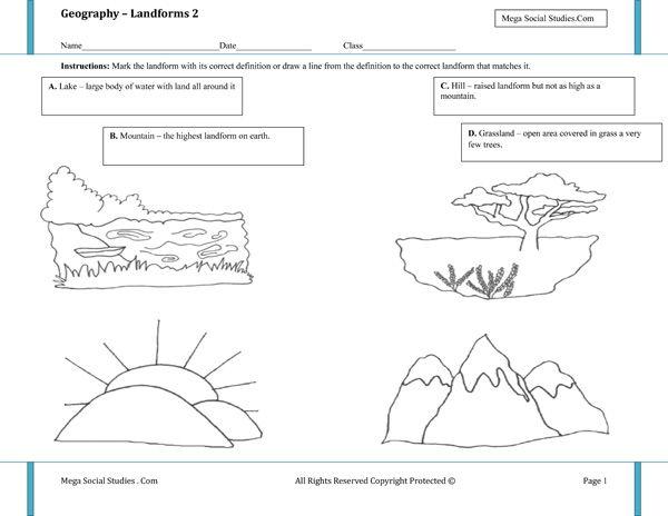 Landforms Worksheet  2