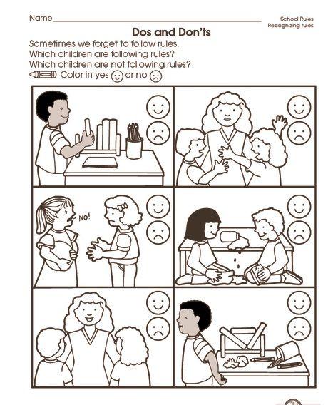 School Rules Worksheet (2)